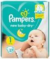 Pampers подгузники New Baby Dry 1 (2-5 кг) 27 шт.