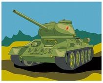 "Артвентура Картина по номерам ""Танк Т-34"" 16.5x13 см (MINI16130059)"