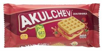 Акульчев Вафли венские Akulchev Земляника 100 г
