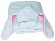 BabyBunny Полотенце пончо Заяц с розовыми ушками