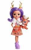 Кукла Enchantimals Данэсса Оленни с любимой зверюшкой, 15 см, FNH23