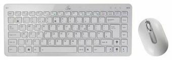 Клавиатура и мышь ASUS EEE Wireless White USB