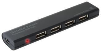USB-концентратор Defender Quadro Promt (83200), разъемов: 4