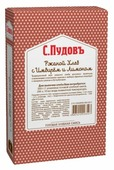 С.Пудовъ Смесь для выпечки хлеба Ржаной хлеб с имбирем и лимоном, 0.5 кг