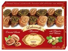 Рахат-лукум Lukeria Ассорти Lukerrolls с фисташками и грецким орехом 250 г