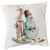 Подушка декоративная Счастье в мелочах Кроли со снеговиком 45 х 45 см (ПДЛХ-Н-93)