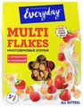 Готовый завтрак Everyday Мультизерновые хлопья с клубникой и малиной, коробка