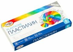 Пластилин ГАММА Классический 6 цветов 120 г со стеком (281030)