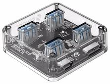 USB-концентратор ORICO MH4U-U3, разъемов: 4