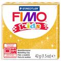 Полимерная глина FIMO kids 42 г блестящий золотой (8030-112)