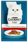 Корм для кошек Gourmet Перл с говядиной 85 г (кусочки в соусе)