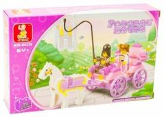 Конструктор SLUBAN Розовая мечта M38-B0239 Карета принцессы