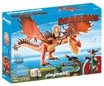 Набор с элементами конструктора Playmobil Dragons 9459 Сморкала и Кривоклык