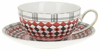 """Best Home Porcelain Чайная пара """"Carnival"""" 220 мл (подарочная упаковка)"""