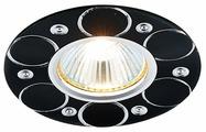 Встраиваемый светильник Ambrella light A808 BK/AL, сатин/черный