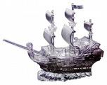 3D-пазл Crystal Puzzle Пиратский корабль (91106), 101 дет.
