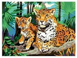 """Рыжий кот Картина по номерам """"Леопард"""" 30х40 см (Х-0395)"""
