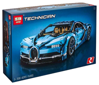 Конструктор Lepin Technician 20086 Bugatti Chiron синий