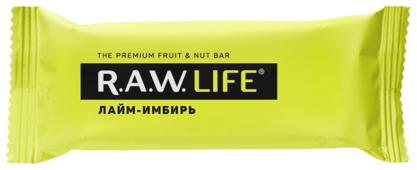 Фруктовый батончик R.A.W. Life без сахара Лайм-Имбирь, 47 г