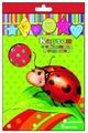 Цветной картон с тиснением в горошек 34000 Феникс+, A4, 5 л., 5 цв.