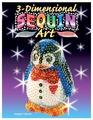 KSG Объемная фигурка с блестками Пингвин (0503)