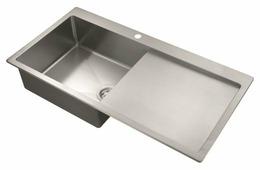 Врезная кухонная мойка AQUASANITA Luna LUN101M-L 100х50см нержавеющая сталь