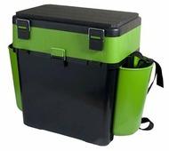 Ящик для рыбалки HELIOS FishBox двухсекционный (19л) 38х25.5х39.5см