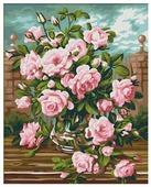 """Мосфа Картина по номерам """"Розовый букет"""" 40х50 см (7С-0158)"""