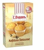 С.Пудовъ Мучная смесь Маффины ванильные, 0.25 кг