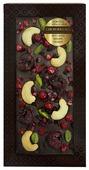Шоколад Chokodelika темный с брусникой, вишней и кешью