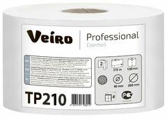 Туалетная бумага Veiro Professional Comfort TP210 белая двухслойная