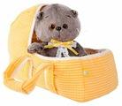 Мягкая игрушка Basik&Co Кот Басик baby в люльке 20 см