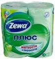 Бумага туалетная ZEWA Плюс Аромат яблока 4 рулона (4605331019309)