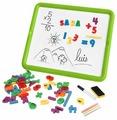Доска для рисования детская Miniland магнитная двухсторонняя с буквами и цифрами (97935)