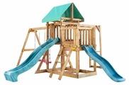 Домик Babygarden с балконом, рукоходом и двумя горками