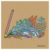 Скетчбук для зарисовок Канц-Эксмо Время творчества 19.5 х 19.5 см, 100 г/м², 80 л.