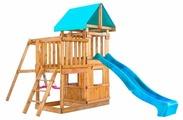Домик Babygarden с балконом, закрытым домиком и горкой 2.4 м