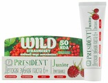 Зубная паста PresiDENT Junior Wild Strawberry 6+ земляника 50 RDA без фтора