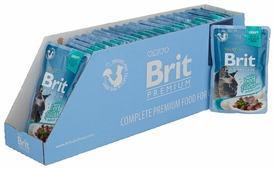 Корм для кошек Brit Premium беззерновой, с говядиной 24шт. х 85 г (кусочки в соусе)