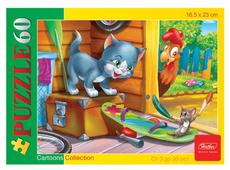 Пазл Hatber Cartoons Collection Котенок и мышонок (60ПЗ5_11632), 60 дет.