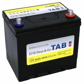Автомобильный аккумулятор TAB EFB Stop & Go Asia SG60J (212860)