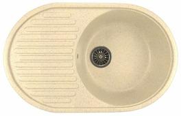 Врезная кухонная мойка Mixline ML-GM16 72х45.5см искусственный мрамор