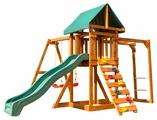 Спортивно-игровой комплекс Babygarden с рукоходом, скалолазкой и горкой 2.4 м