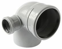 Отвод полипропилен 110х50 87° Политрон 10010587L