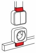 Соединение/накладка на стык для настенного кабель-канала Legrand 638107