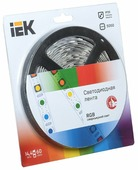 Светодиодная лента IEK LED LSR-5050RGB60-14.4-IP20-12V 5 м