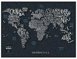 1DEA.me Скретч Карта Мира Letters