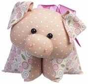 Малиновый слон Набор для изготовления мягкой игрушки Поросёнок Бантик (ТК-035)