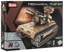Электромеханический конструктор QiHui Mechanical Master 8012 Зенитный танк
