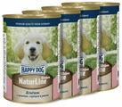 Корм для щенков Happy Dog NaturLine ягненок, печень, сердце с рисом